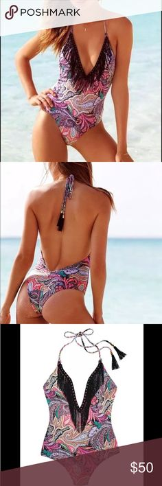 16d924f34bc ❗️New❗️VS Dune Paisley One Piece Plunge Swim Suit Brand New with Tags-
