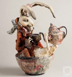 Artwork «Not titled Ooak Dolls, Art Dolls, Sculpture Clay, Sculptures, Fete Halloween, Bunny Art, Clay Art, Beautiful Dolls, Sculpting