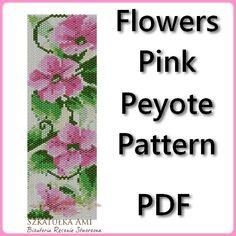 Sale OFF 15 % Flowers Pink Peyote Pattern by BeadingPattern