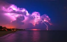 Row of thunderstorms with beautiful cloud to cloud, and cloud to ground lightning Thunder And Lightning, Lightning Storms, Purple Lightning, Storm Wallpaper, Cool Pictures, Cool Photos, Amazing Photos, Beautiful Pictures, Summer Pictures