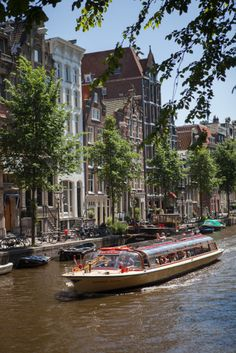 Canal in Amsterdam, Netherlands.