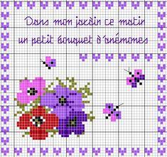 """des anémones ! Ouiiii ! Voici un nouveau carré de mon """"petit"""" jardin... J'ai réalisé ce pinkeep pour Valérie, qui s'est lancée dans une opération titanesque, dont je vous laisse prendre connaissance : http://www.bonheurdebrodeuses.com/article-30483744.html..."""