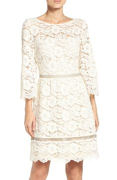 Main Image - Vince Camuto Lace Fit & Flare Dress