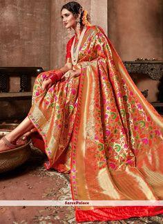 Banarasi Silk Weaving Work Traditional Designer Saree