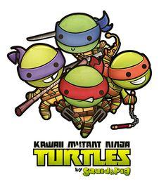 Kawaii Mutant Ninja Turtles by Squid&Pig , via Behance