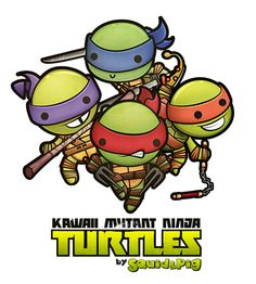 Kawaii Mutant Ninja Turtles by Squid , via Behance