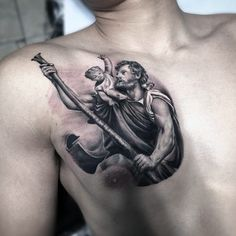 e0c1f4ef4a257 62 Best saint christopher tattoo images in 2018 | Saint christopher ...