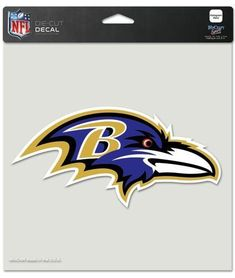 Baltimore Ravens Decal 8x8 Perfect Cut Color