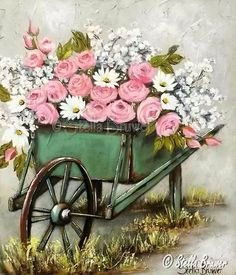 quenalbertini: Flowers Decoupage by Stella Bruwer Art Floral, Vintage Pictures, Vintage Images, Illustration Blume, Decoupage Paper, Vintage Diy, Vintage Flowers, Painting Inspiration, Painting & Drawing