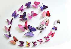 12 Pcs 3D Butterfly Wall Stickers Just $1.27! Ships FREE!