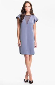 038541c67ea Rebecca Taylor Silk Shift Dress available at Nordstrom Black Trim
