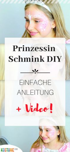 Prinzessin schminken – Anleitung Simple instructions for making up children - make up for the prince Simple Face Paint Designs, Face Painting Designs, Easy Makeup Tutorial, Makeup Tutorial For Beginners, Halloween Makeup Looks, Halloween Make Up, Tooth Fairy Halloween Costume, Makeup Tutorial Foundation, Hacks Every Girl Should Know