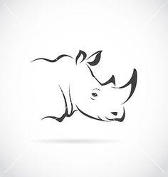 Image of rhino head vector by yod67 on VectorStock®