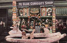 Ye Olde Curiosity Shop. 2248 — Alaskan Curio Shop, Seattle, Washington. Most unique shop in the world. On the Colman Dock Front. J. E. Standley, Prop.