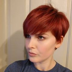 Trendiest Pixie Haircut for Women, 2018 Summer Short Hairstyle Ideas - Cool Short Summer Bob Red Pixie Haircut, Blonde Pixie Cuts, Short Pixie Haircuts, Pixie Hairstyles, Short Hairstyles For Women, Short Hair Cuts, Red Pixie Cuts, Layered Hairstyles, Haircut For Older Women