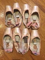 4 Pairs Used Ballet Pointe Shoes - Freeds