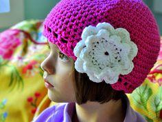 adorable crochet little girl cloche!