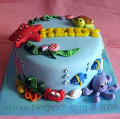 under the sea cakes Party ideas: The best Under the Sea birthday cakes Chickabug Cupcakes, Cupcake Cakes, Fondant Girl, Fondant Cakes, Under Sea Cake, Ocean Cakes, Fancy Cakes, Pretty Cakes, Creative Cakes