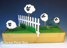 Carve some whimsical jumping sheep out of Smoothfoam!