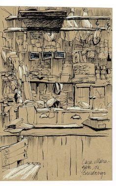Urban Sketchers Spain. El mundo dibujo a dibujo.: La Casa Maragato de Busdongo:
