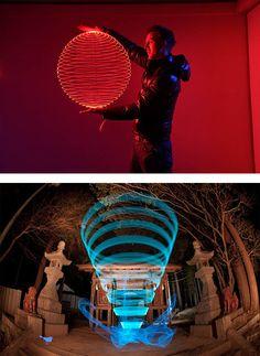 3D Geometric Light Paintings by Trevor Williams