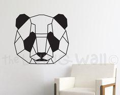Ours géométriques murales autocollant Stickers ours par LivingWall