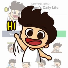 A new LINE Sticker design. Tami is super active boy who loves Martabak. Send them off to friends and lighten up your day.