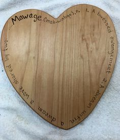 Mawage heart cutting board. Princess bride lovers will love this!