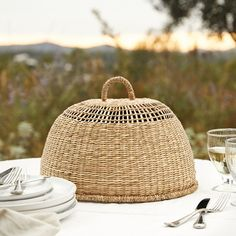 Enjoy your garden or patio with our beautiful outdoor accessories, from serveware to torch lanterns & garden fairy lights from The White Company. Basket Weaving, Hand Weaving, Garden Lanterns, The White Company, Al Fresco Dining, Open Weave, Wooden Hearts, Rustic Design, Natural Materials