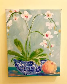 Chinoiserie Chic, Wow Art, Art And Architecture, Amazing Art, Decor Styles, Wall Art Decor, Orchids, Watercolor Paintings, Artsy