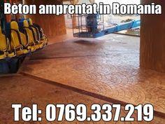 Pavaj din beton amprentat in Romania. Reproducerea pietrei cubice, sau a granitului prin amprentarea betonului.