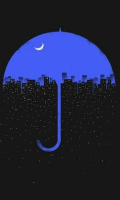Would be so cute with Seattle skyline under the umbrella. Love