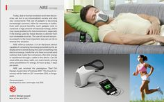 AIRE is a mask that converts wind energy (provided by the wearer's breath) into electricity for the recharging of small electronic devices.    AIRE can be used in any situation, indoors or outdoors. It can be used while you sleep, walk, run, or read a book, for example. Besides saving energy (and contributing to environmental preservation), it also encourages the practice of physical exercise. Its energy is available twenty-four hours a day, seven days a week.