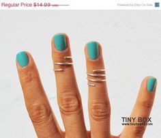 SALE 1st Birthday Silver Rings Knuckle Rings  Midi by TinyBox12, $12.74