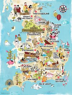 Illustrated map the English countryside for Time Out magazine #map #mapillustration #illustration