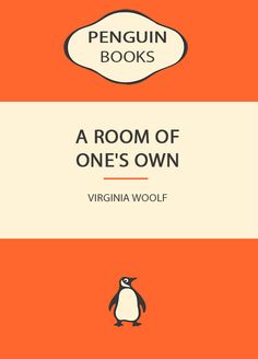 Penguin Books Virginia Woolf A Room Of One's Own Art Pint - Wall Art Print Poster Any Size - Geekery
