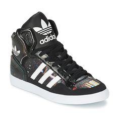 Basket montante Adidas Originals EXTABALL W - Baskets Femme Spartoo -  Ventes-pas-cher.com. White High Top SneakersWhite ...