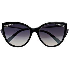 La Perla Sunglasses Black Marble Effect Cateye Sunglasses ($440) ❤ liked on Polyvore featuring accessories, eyewear, sunglasses, glasses, black, tinted lenses glasses, cat eye glasses, cat-eye glasses, lens glasses and cat eye sunglasses