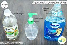 Dawn Dish Soap and vinegar - Dawn dish soap (kills fleas) — 2 tablespoons White vinegar (repels fleas) — 2 tablespoons Warm water — ½ cup