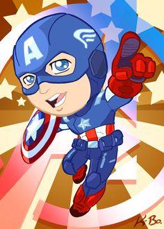 Avengers Captain America Art Card by *kevinbolk on deviantART