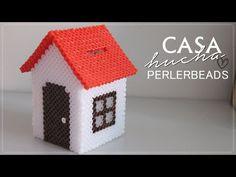 Hucha en forma de Casa (PerlerBeads) - YouTube