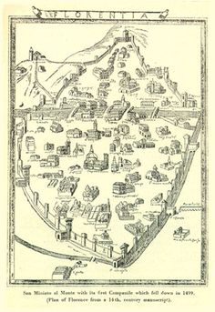 Map of Florence, 1469