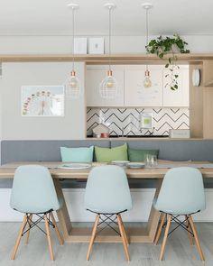 50 Best Modern Dining Room Design Ideas - Home Decorating Inspiration Kitchen Interior, Room Interior, Dinner Room, Salon Interior Design, Cuisines Design, Dining Room Design, Living Room Decor, Sweet Home, House Design