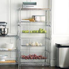 Garage Storage Cabinets, Pantry Shelving, Wire Shelving, Kitchen Shelves, Kitchen Storage, Kitchen Decor, Kitchen Organization, Medicine Organization, Kitchen Interior