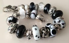 A black and white Trollbeads bracelet from a collector on Trollbeads Gallery Forum!  Join and share your own creations to inspire others! http://trollbeadsgalleryforum.ning.com/