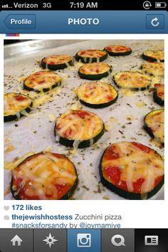 The Jewish Hostess Diet Zuchinni Pizza Slices