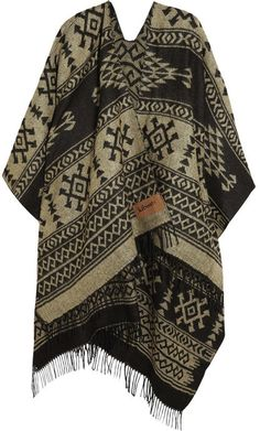 Finds + Kiboots reversible intarsia-knit poncho on shopstyle.com