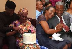 Acting President Osinbajo Surprises Wife With Midnight Cake On Her 50th Birthday