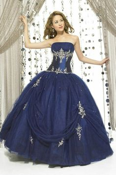 Navy Quinceañera Dress