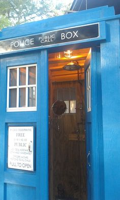 TARDIS Shower is Done! - A Mad Woman Builds a Box Shaped Shower. See more pictures of this awesome time box shower here: http://madwomanwithaboxshower.tumblr.com/post/28261241974/tardis-shower-is-done#